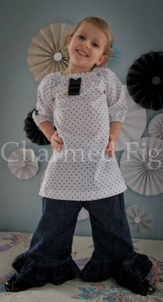 Embellished Peasant Top - Made to Order - 2T-5T