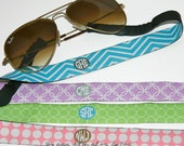 Personalized Glasses Strap - Choose Your Design and Colors - Monogrammed sunglasses holder