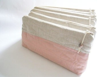 Rose Wedding Clutches, Set of 6 Bags, Bridesmaids Purses, Rustic Rose Handbags