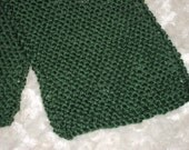 Soft, light weight green knit unisex scarf.