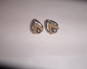 vintage clip on earrings gold silver