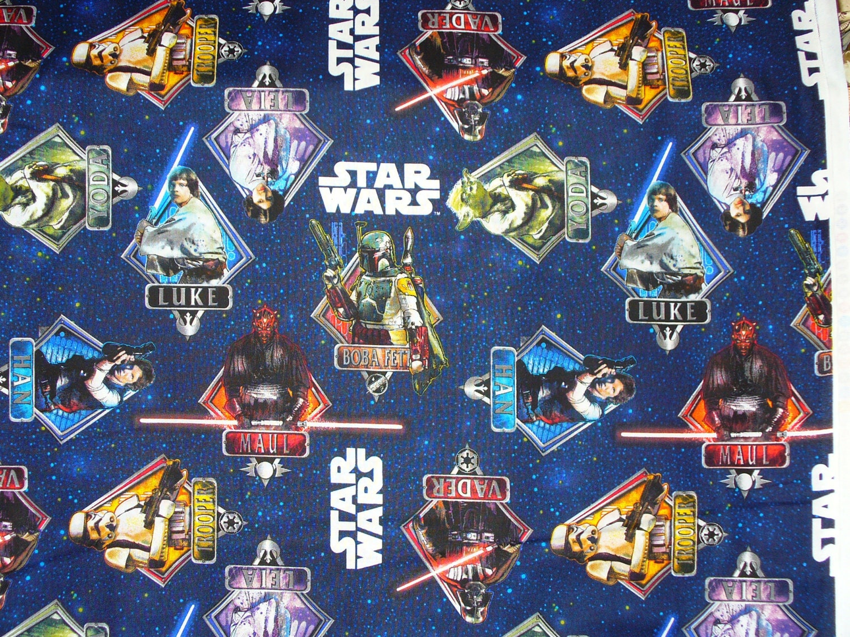 Star wars characters fabric logo last yard for Star wars fabric