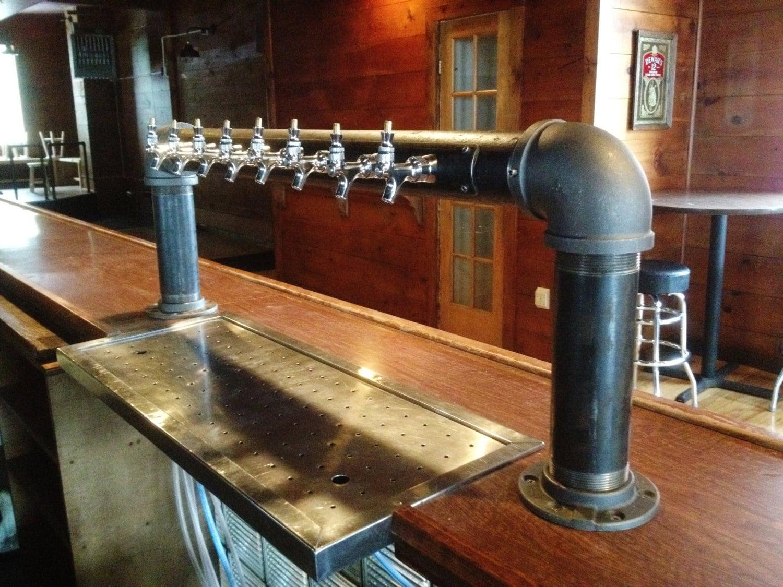 8 Tap Custom Draft Beer Tower Industrial Iron Pipe