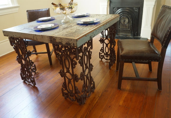 New Orleans Dining Room Table Made From Reclaimed Wood and : il570xN4565348563rgs from www.etsy.com size 570 x 396 jpeg 64kB