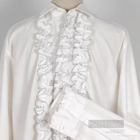 Ruffle Shirt Mens Mens Tuxedo Shirt White Navy