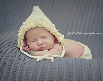 Crochet Pattern for Star Stitch Pixie Bonnet Hat - 5 sizes, baby to adult - Welcome to sell finished items