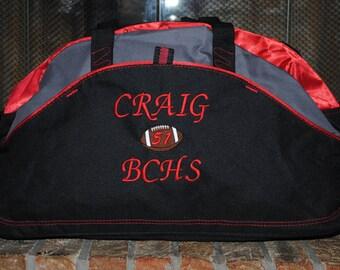 Custom Duffel Bag with a Personalized Design Embroidered Gym bag Gymnastics Football Dance Gymnastics Monogrammed Logo Large Duffel Bag