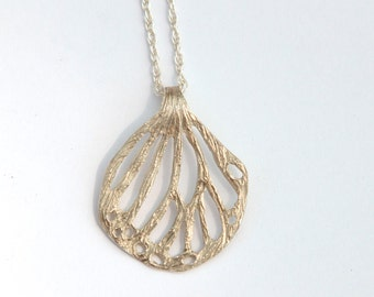 Demeter Leaf Charm Necklace - Recycled Sterling Silver