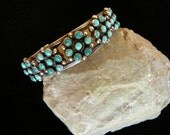 Vintage Zuni Turquoise Cuff Bracelet
