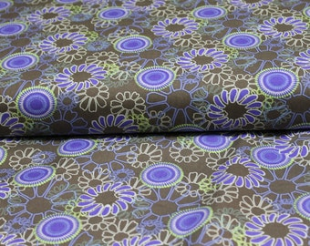 Cotton Fabric - Art Gallary Fabric - Color Splash Design - Chocolate Daisy Fusion Fabric-Clothing apparel- quilting fabric- sewing projects