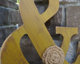 Ampersands/Custom letters for home decor - 13 inch