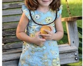 Lily Bird Studio PDF Sewing Pattern - Kate's Dress - 12 mths to 10 yrs -  A-line, 2 yoke options, lined bodice FREE Shipping