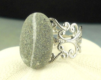 Irish Beach Stone Ring Eco Friendly