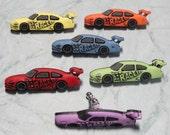 Race Car Croc / Clog Buttons - Charm for Boys or Girls