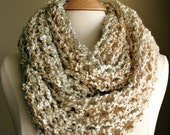 Sale - BEACHCOMBER INFINITY SCARF - Warm, soft & stylish scarf rich in texture - Creamy Beige