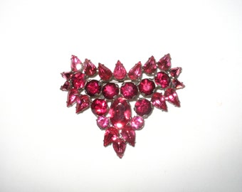 Simply Stupendous Hot Pink and Red Vintage Pin