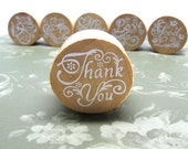 THANK YOU Wood Mounted Rubber Stamp