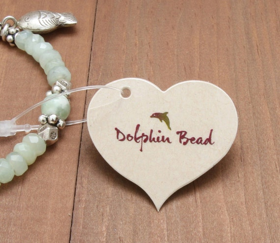 500 heart shape tags - jewelry tags or wedding favor tags