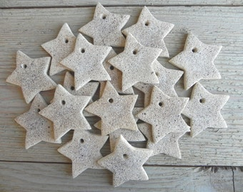 Chunky Cinnamon Mini Salt Dough Stars Wholesale Set of 10 Star Ornaments