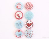 Love is in the Air - Set of 8 Flair Buttons