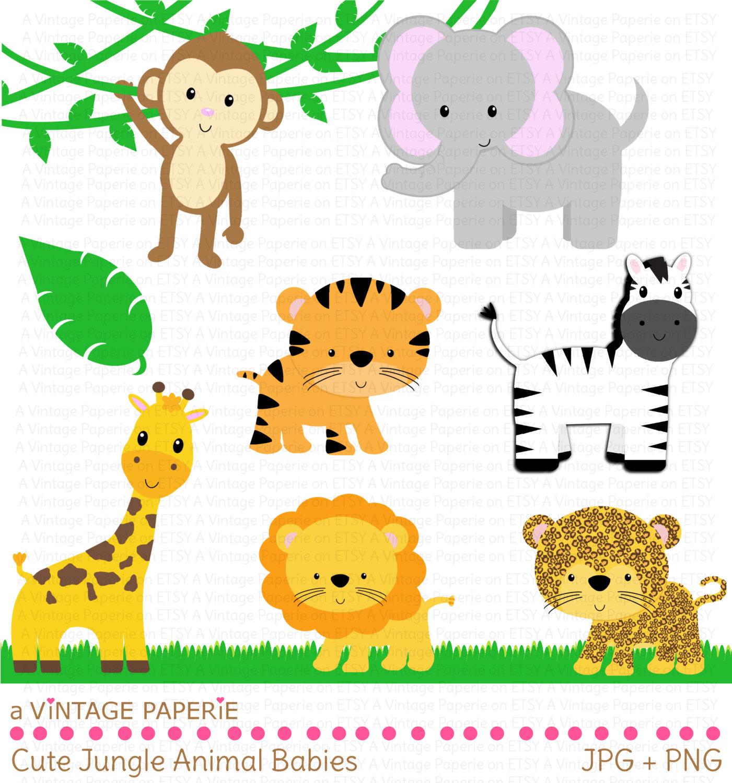 clipart of jungle animals - photo #13
