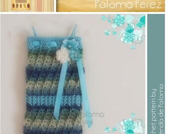 INSTANT DOWNLOAD - Crochet Baby Swirl Strapless Romper Pattern - Crochet Baby Pants - Crochet Pants - Crochet Pattern