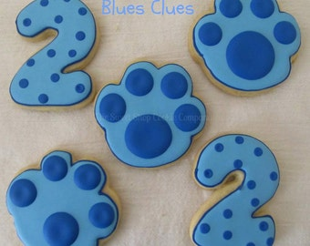 Blue Paw Print cookies 3 dozen