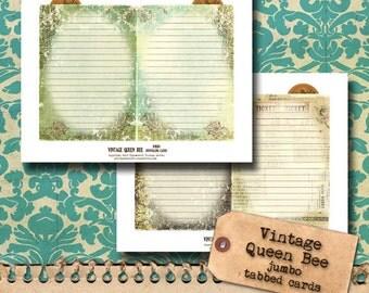 Vintage Queen Bee Journal Add-On - Jumbo Cards
