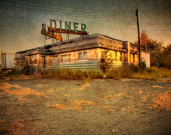 Fine Art print of a Vintage Diner In New Jersey