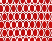 Half Yard Remix Ovals in Red, Ann Kelle for Robert Kaufman Fabrics, 100% Cotton Fabric