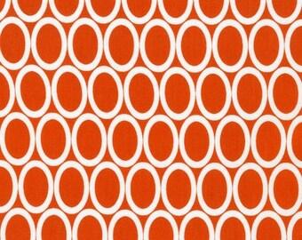 Half Yard Remix Ovals in Orange, Ann Kelle for Robert Kaufman Fabrics, 100% Cotton Fabric