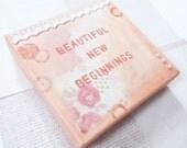 """Beautiful new beginnings - Original mixed media canvas 6x6"""""""