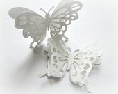 Snow White Butterflies, Shabby Chic