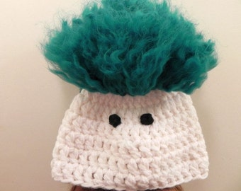 Crocheted Troll Hat INVENTORY REDUCTION SALE Ready to Ship