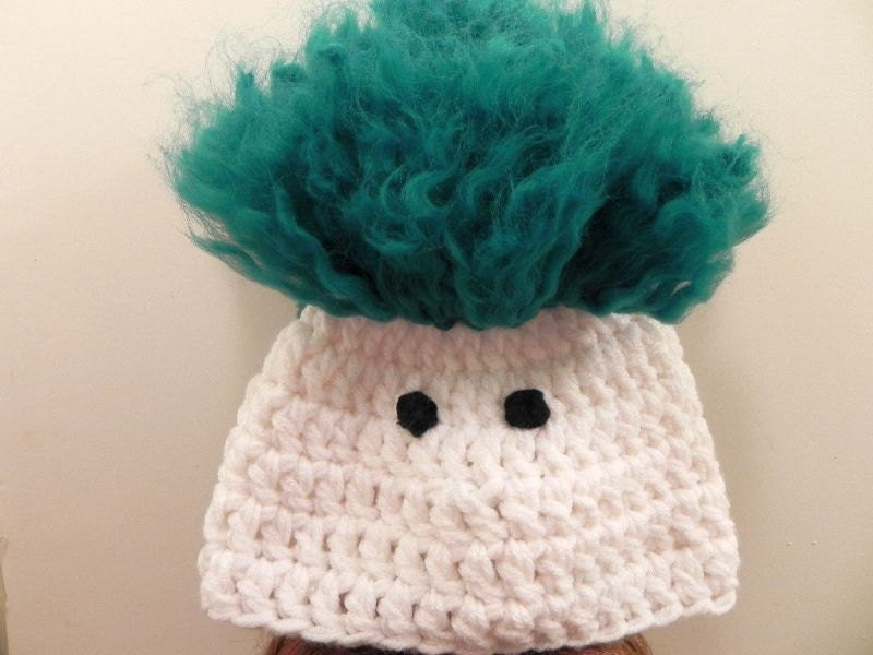 Crochet Pattern For Troll Hat : Crocheted Troll Hat INVENTORY REDUCTION SALE Ready to Ship