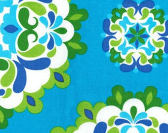 1 yard of Kanvas by Benartex Lilified Medley in Turquoise and Green