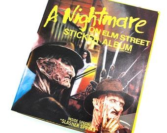 Nightmare On Elm Street Sticker Album Unused