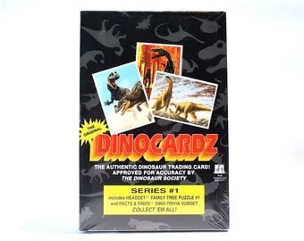 Dinosaur Cards Box 36 Packs Approved by The Dinosaur Society