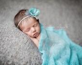 Mohair Baby Wrap - Robin's Egg Blue