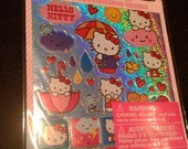 Sparkly Hello Kitty Stickers, rainy day theme