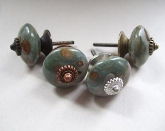 Ceramic Cabinet Knobs set of four