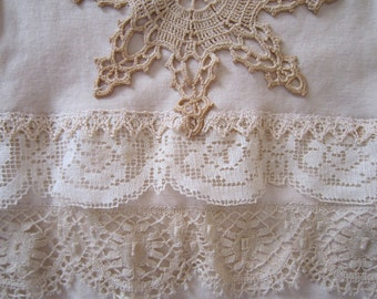 Ivory Tea Dyed, Lacy Baby Outfit