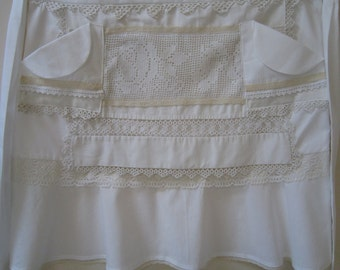 Fancy Apron in Shades of Ivory
