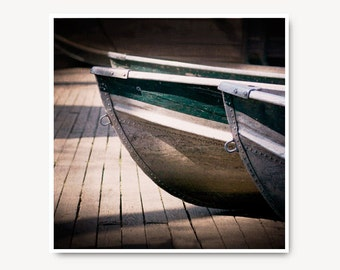 Rustic Boat Photo, central park boats, rowboat, summer, nautical, wall art, boat print, for him, man cave, NYC boat, teal, sliver, boat art