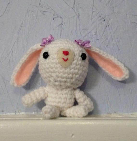 Etsy Amigurumi Bunny : Crocheted Bunny Stuffed Animal Amigurumi by meddywv on Etsy