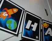 SPACE Birthday Banner