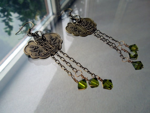 Green Dragon Earrings - Slytherin Green - Slytherin Serpent