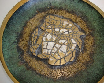 Vintage Brass Plate, Bronze Dayagi Plate, Brass Dish