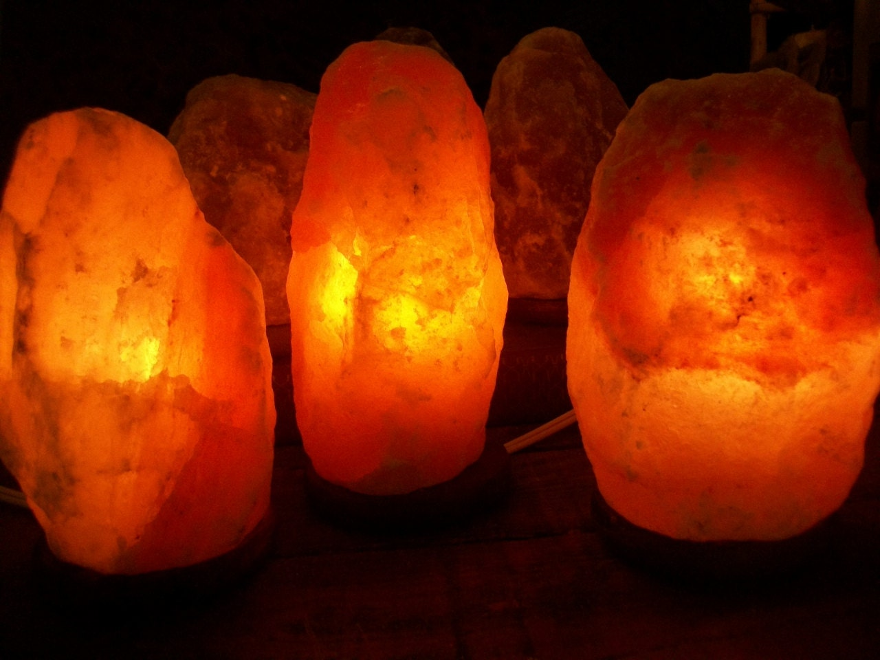 Salt Lamps In Feng Shui : Himalayan Crystal Salt Lamp 7-9 Hand by WhiteDoveTreasures on Etsy
