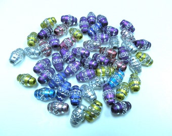 New 20 Aluminum Metal Oval Beads 13mm assorted colors